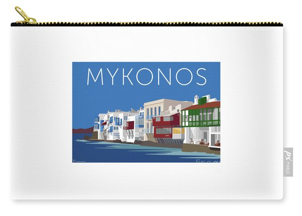Mykonos Little Venice - Blue Carry-all Pouch