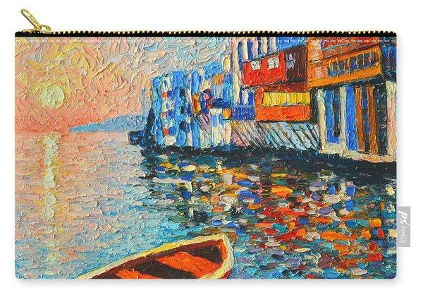 Mykonos Little Venice - Timeless Moment Carry-all Pouch