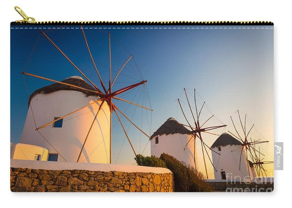 Mykonos Windmills Carry-all Pouch