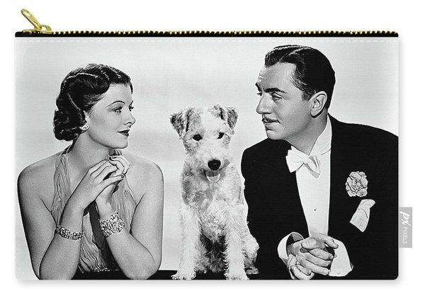 Myrna Loy Asta William Powell Publicity Photo The Thin Man 1936 Carry-all Pouch