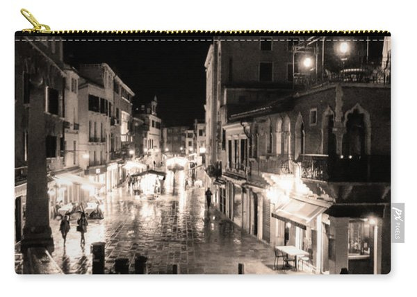 Mysterious Venice Monochrom Carry-all Pouch