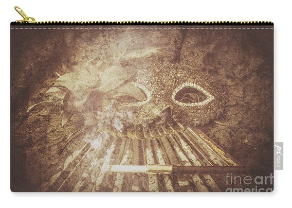 Mysterious Vintage Masquerade Carry-all Pouch