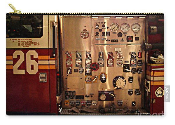 N Y C Fire Engine Digits And Dials Carry-all Pouch