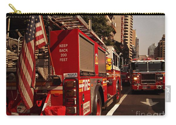 N Y C Fire Trucks - On The Job Carry-all Pouch