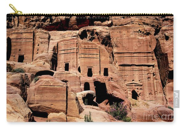 Carry-all Pouch featuring the photograph Nabataeans' City by Mae Wertz