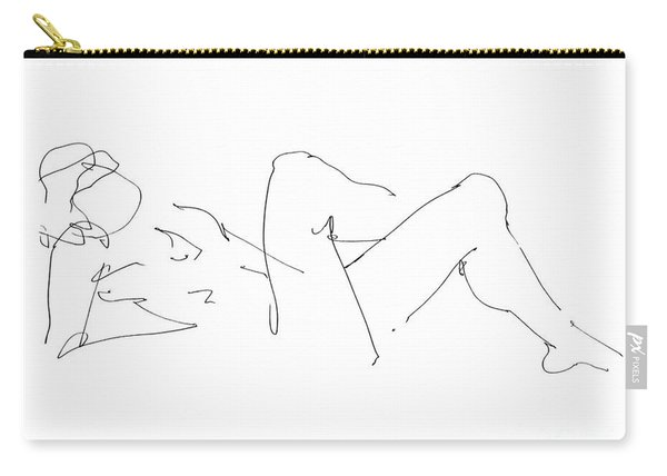 Naked-male-drawing-14 Carry-all Pouch