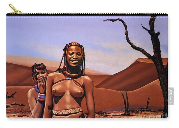 Himba Girls Of Namibia Carry-all Pouch
