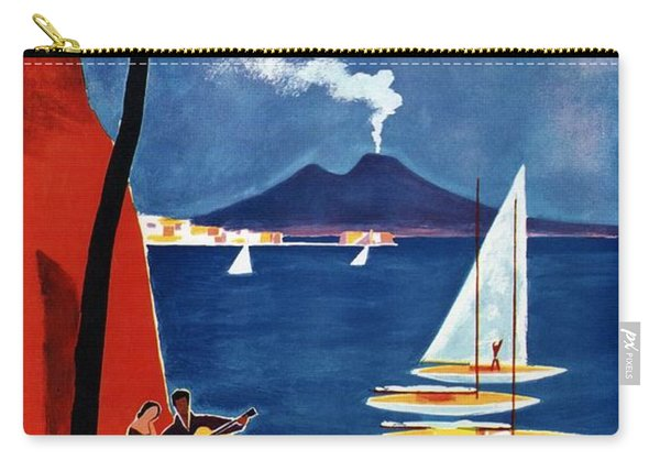 Napoli - Naples, Italy - Beach - Retro Advertising Poster - Vintage Poster Carry-all Pouch