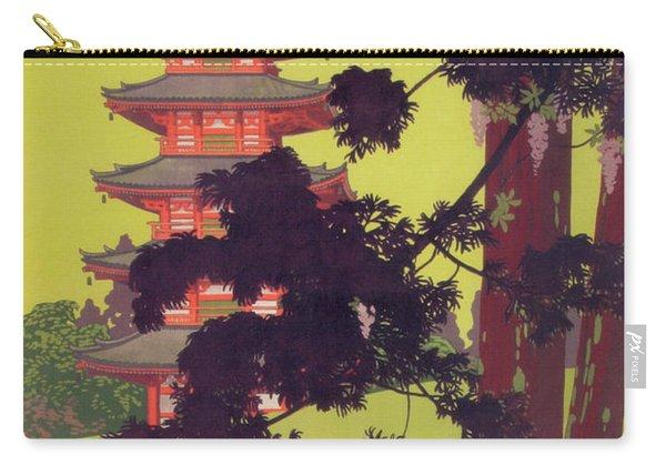 Nara Park Japan Tourist Bureau Ad C. 1920 Carry-all Pouch