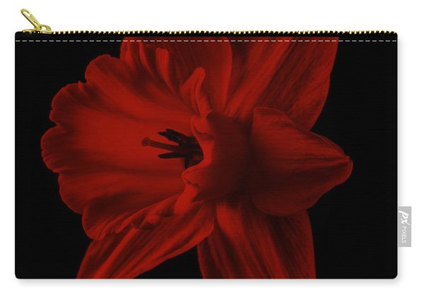 Narcissus Red Flower Square Carry-all Pouch