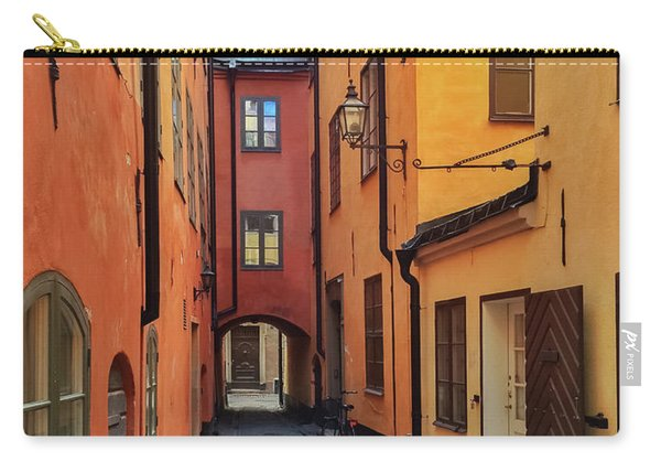 Narrow Street In The Old Center Of Stockholm Carry-all Pouch