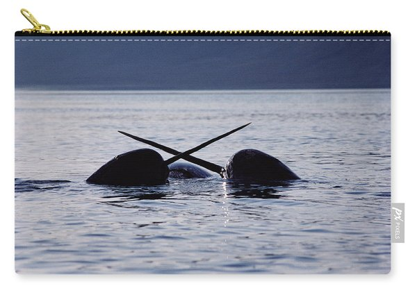 Narwhal Males Sparring Baffin Island Carry-all Pouch
