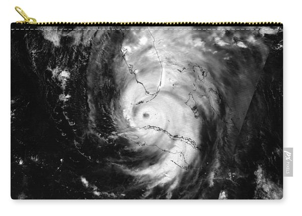 Nasa Hurricane Irma Between Cuba And Florida Satellite Image Carry-all Pouch