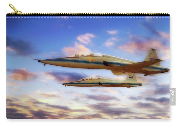 Nasa T-38 Talons At Sunrise - Pilot - Airplanes Carry-all Pouch