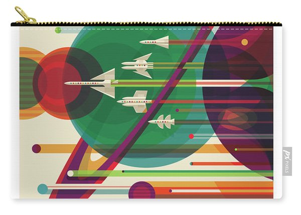 Nasa The Grand Tour Poster Art Visions Of The Future Carry-all Pouch