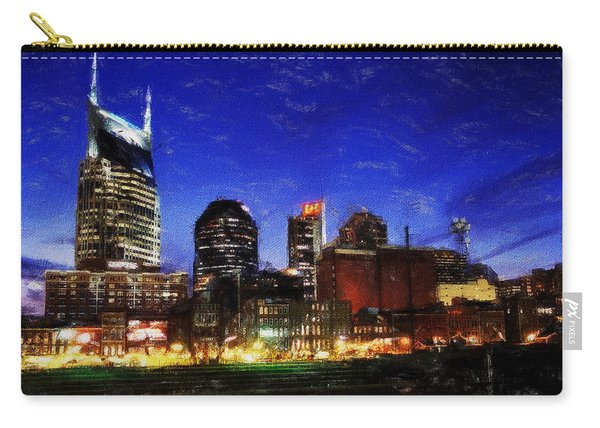 Nashville At Twilight Carry-all Pouch