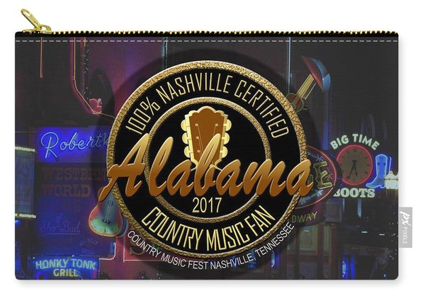 Nashville Certified Alabama Country Music Fan Carry-all Pouch