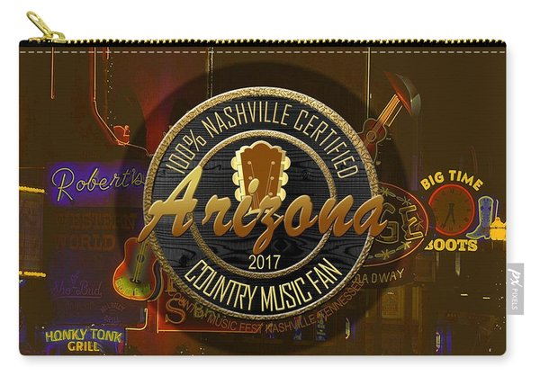 Nashville Certified Arizona Country Music Fan Carry-all Pouch