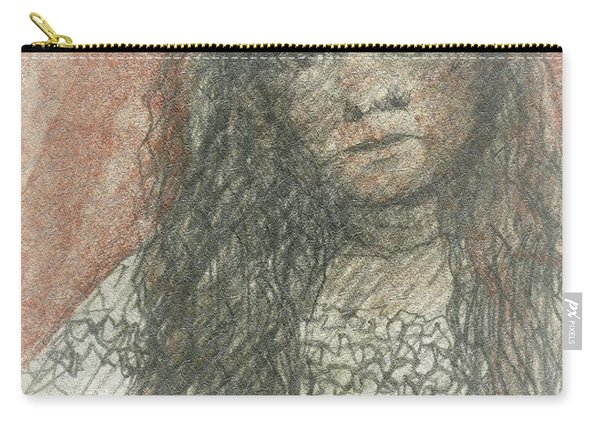 Native American Girl Carry-all Pouch