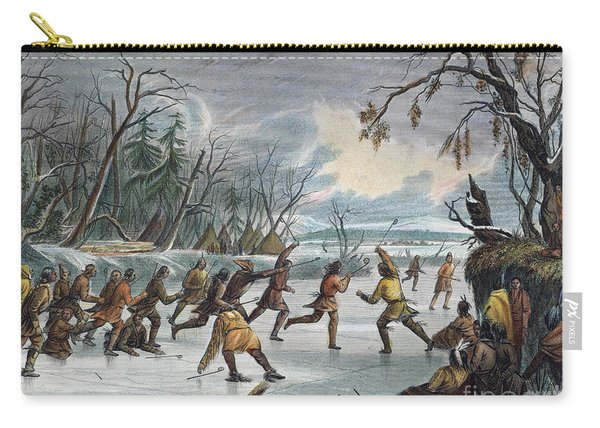 Native Americans: Ball Play, 1855 Carry-all Pouch