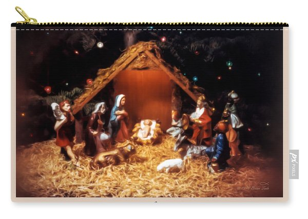 Nativity Scene Greeting Card Carry-all Pouch