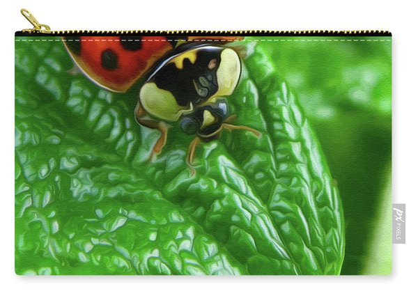 Natural Color Contrast Carry-all Pouch