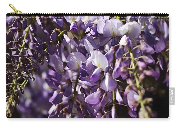 Natural Wisteria Bouquet Carry-all Pouch