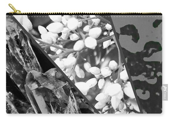Nature Collage In Black And White Carry-all Pouch