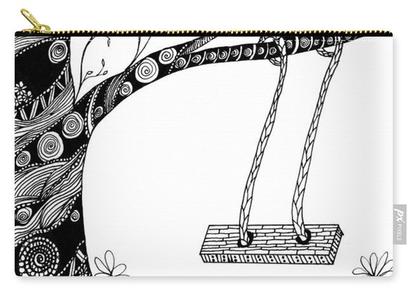 Carry-all Pouch featuring the drawing Nature Is Calling Come Out And Play by Barbara McConoughey