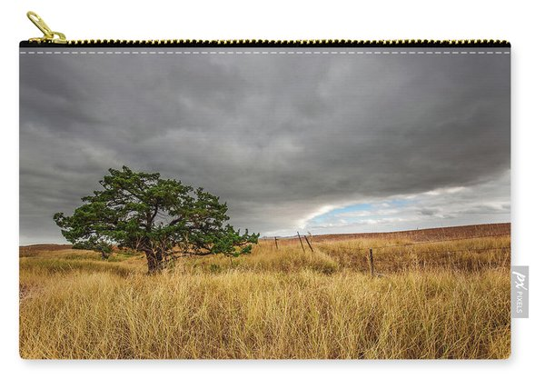 Nature - Lone Tree In South Dakota Badlands Carry-all Pouch