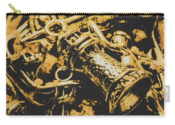 Nautical Icons In Abstract Carry-all Pouch