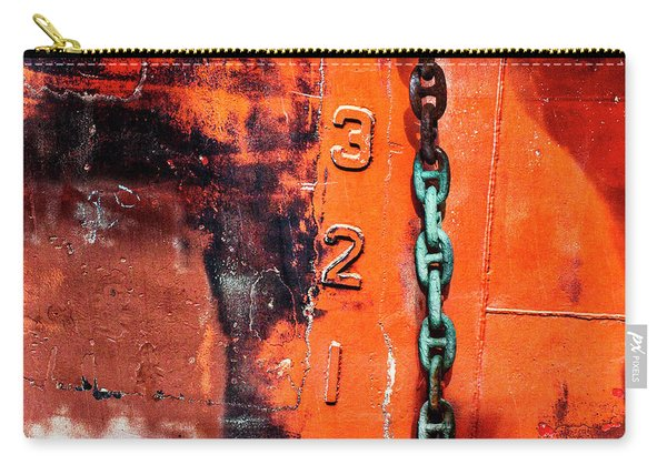 Nautical Industrial Art Again Square Carry-all Pouch