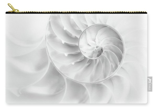 Nautilus Shell In High Key Carry-all Pouch