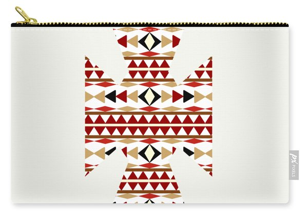 Navajo White Pattern Art Carry-all Pouch