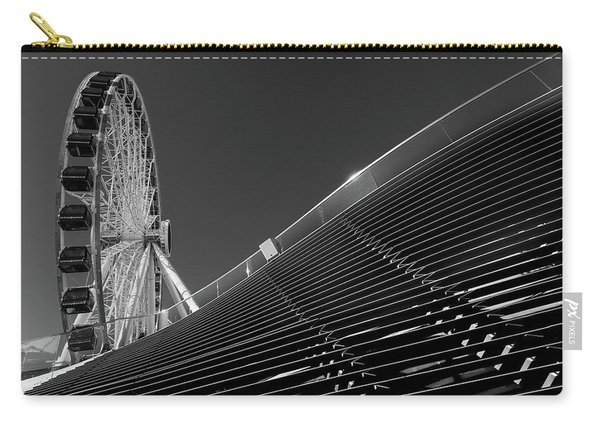 Navy Pier Wheel Chicago B W Carry-all Pouch