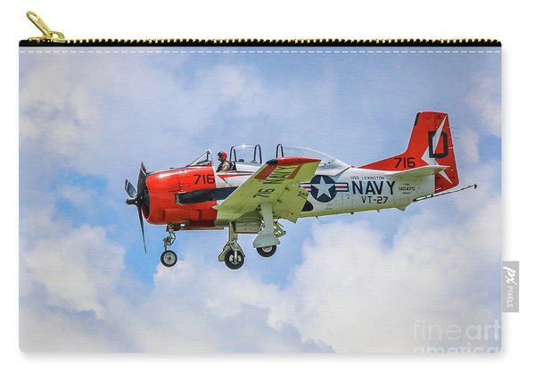 Carry-all Pouch featuring the photograph Navy Trainer #2 by Tom Claud