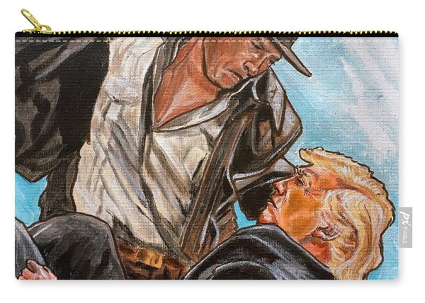 Carry-all Pouch featuring the painting Nazis. I Hate Those Guys. by Joel Tesch