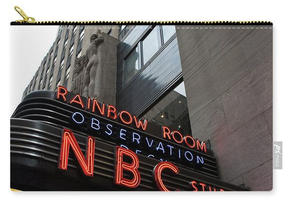 Nbc Studio Rainbow Room Sign Carry-all Pouch