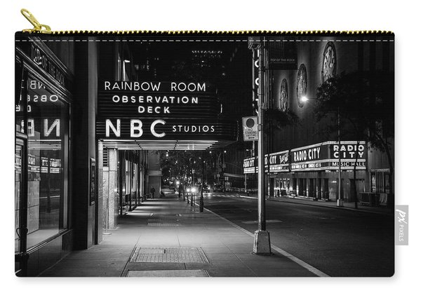 Nbc Studios Rockefeller Center Nyc Black And White  Carry-all Pouch