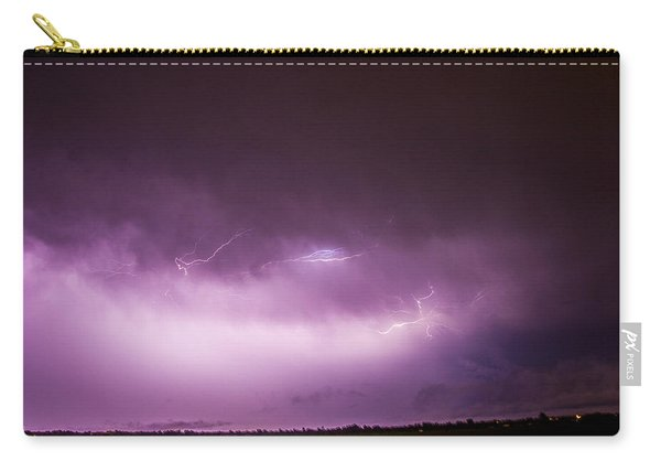 Carry-all Pouch featuring the photograph Nebraska Night Thunderstorms 013 by NebraskaSC