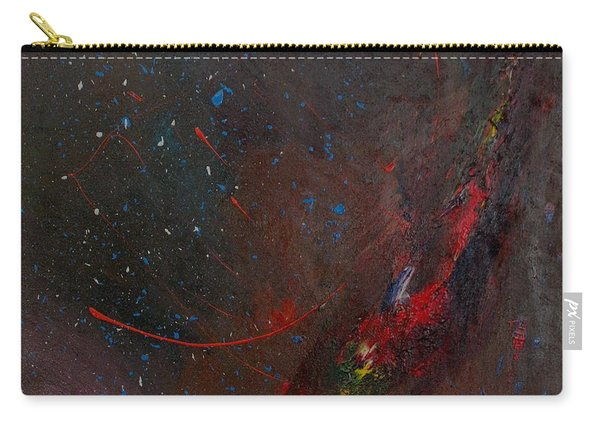 Carry-all Pouch featuring the painting Nebula by Michael Lucarelli