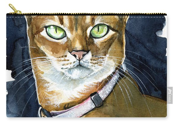 Nefertiti - Abyssinian Cat Portrait Carry-all Pouch