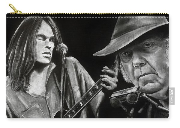 Neil Young And Neil Old Carry-all Pouch