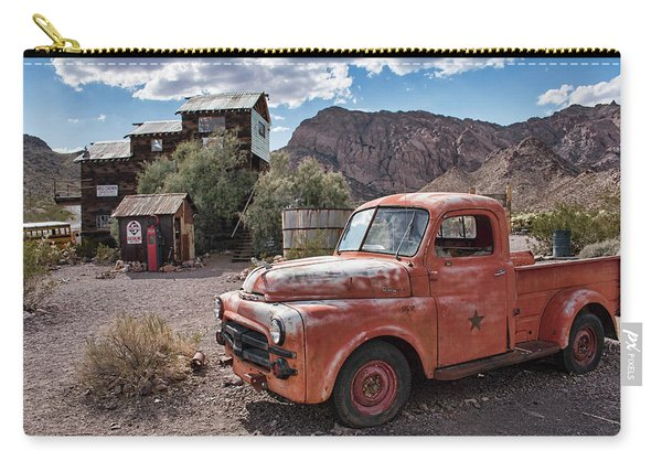 Nelson Old Dodge In The Desert Carry-all Pouch