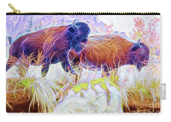 Neon Bison Pair Carry-all Pouch