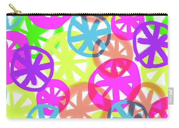 Neon Circles Carry-all Pouch