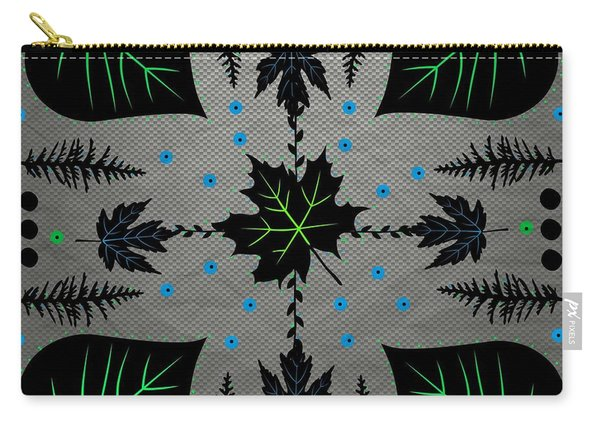 Neon Leaves Carry-all Pouch