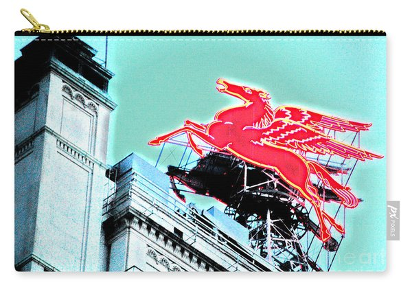 Neon Pegasus Atop Magnolia Building In Dallas Texas Carry-all Pouch