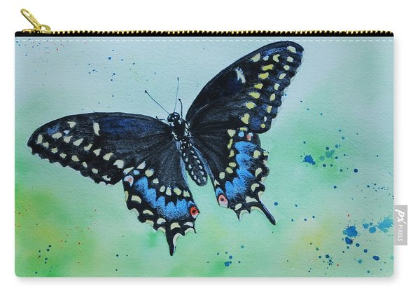 Neon Swallowtail Carry-all Pouch
