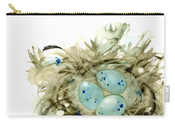 Nest And 3 Eggs Carry-all Pouch